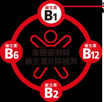 愛A25含活性維生素B1誘導體,並添加維生素B2、B6、B12