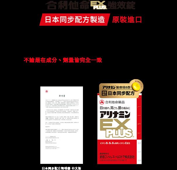 日本同步配方聲明書中文版